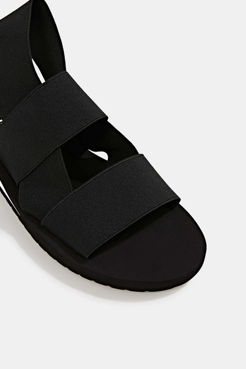 Sandals with stretchy straps, BLACK, detail image number 4
