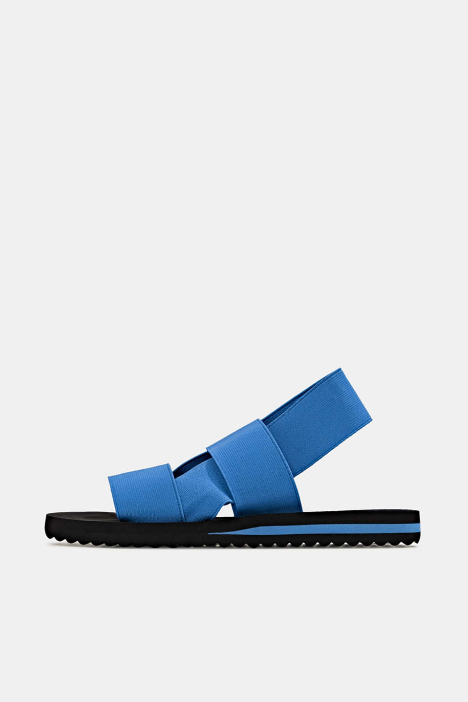 Sandals with stretchy straps, BRIGHT BLUE, detail image number 0