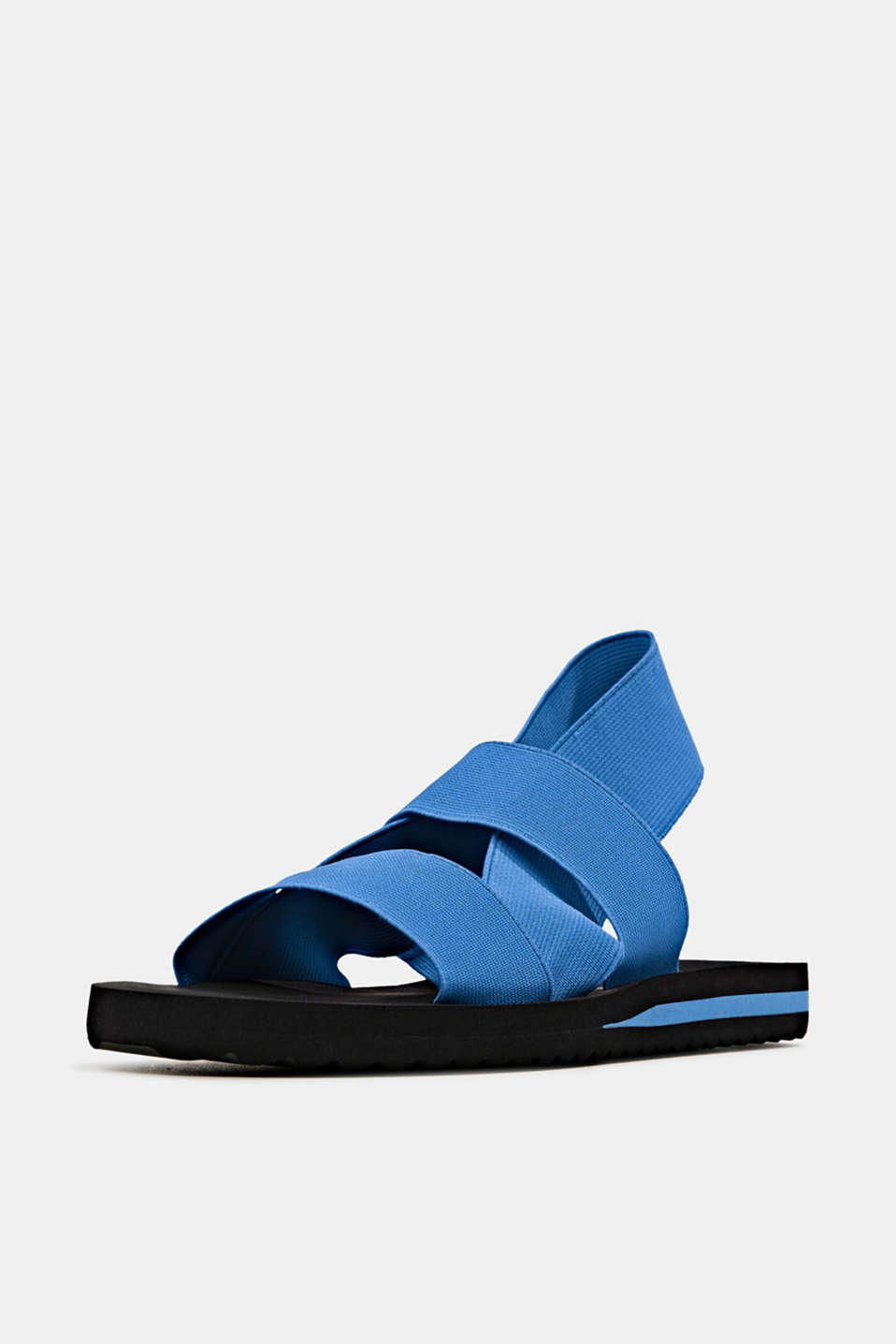 Sandals with stretchy straps, BRIGHT BLUE, detail image number 1