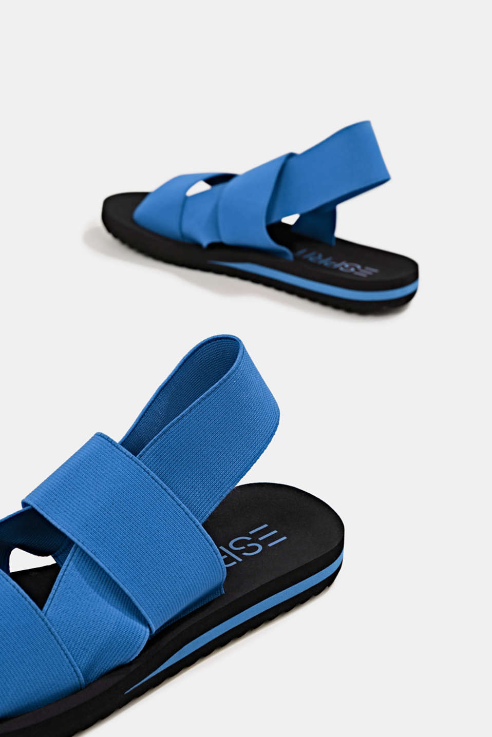 Sandals with stretchy straps, BRIGHT BLUE, detail image number 2