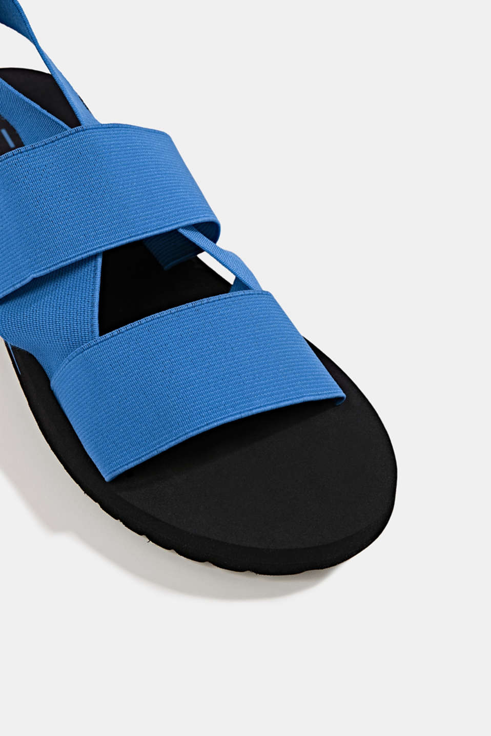 Sandals with stretchy straps, BRIGHT BLUE, detail image number 3