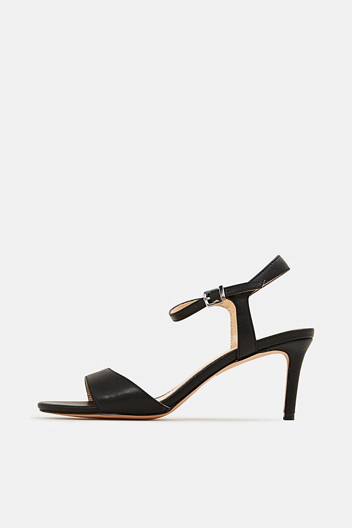 High-heeled strap sandals, BLACK, detail image number 0