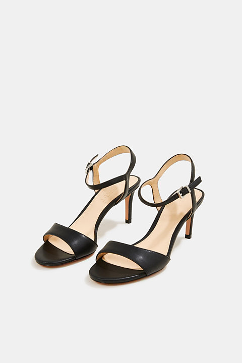 High-heeled sandals with an ankle strap