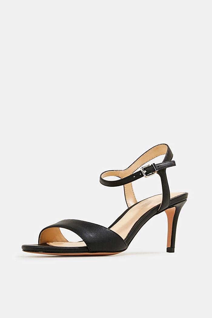 High-heeled strap sandals, BLACK, detail image number 2