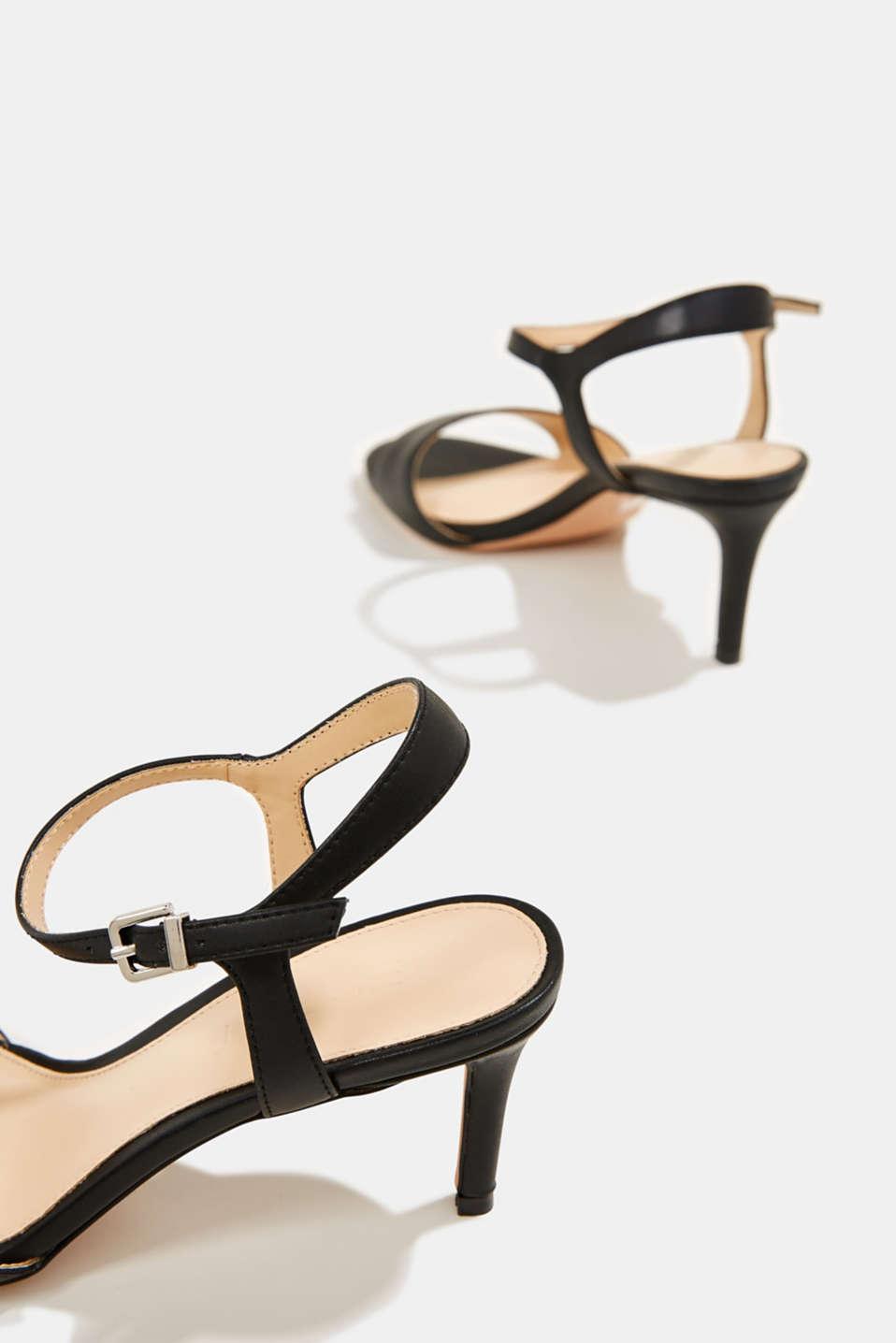 High-heeled strap sandals, BLACK, detail image number 5