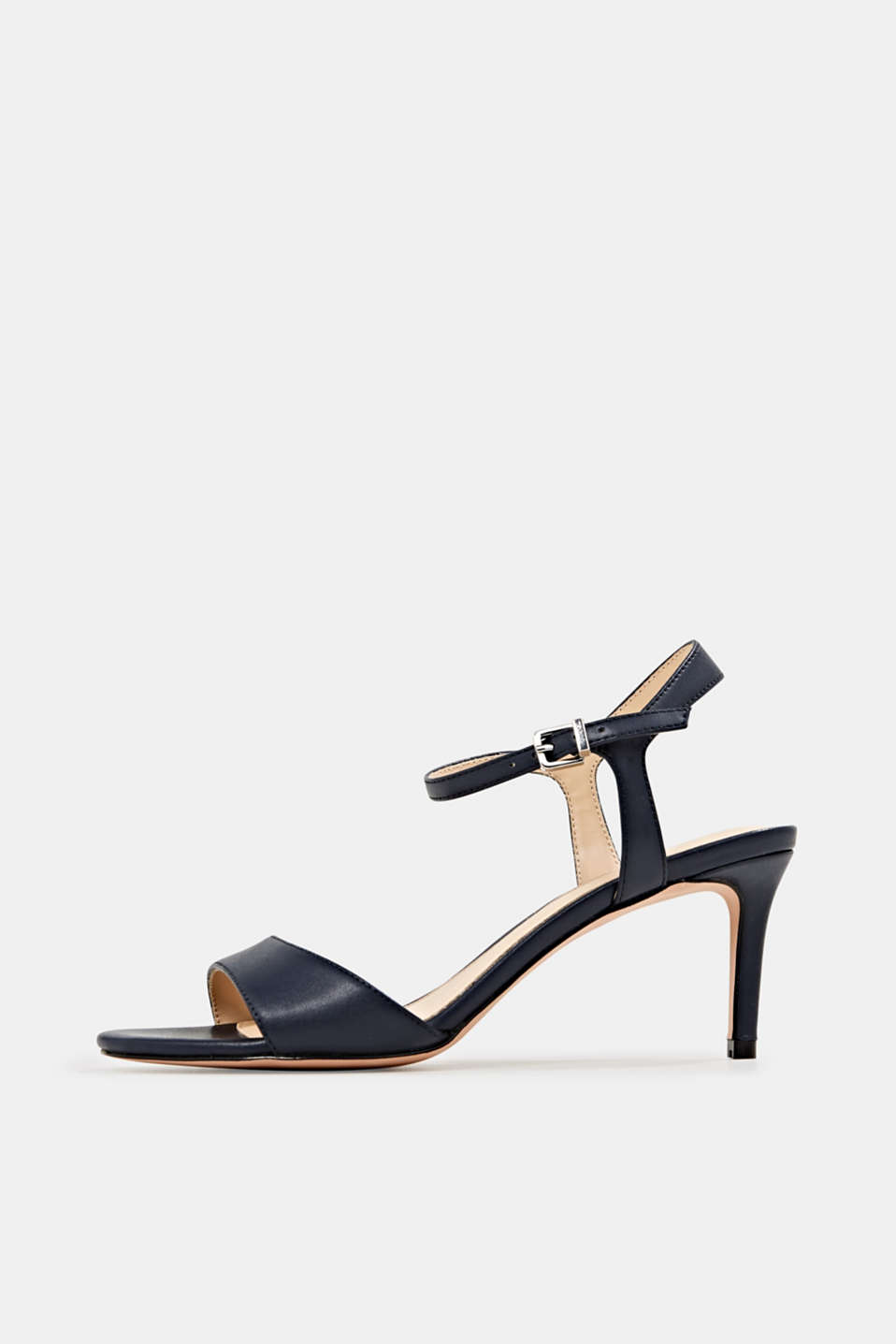 High-heeled strap sandals, NAVY, detail image number 0