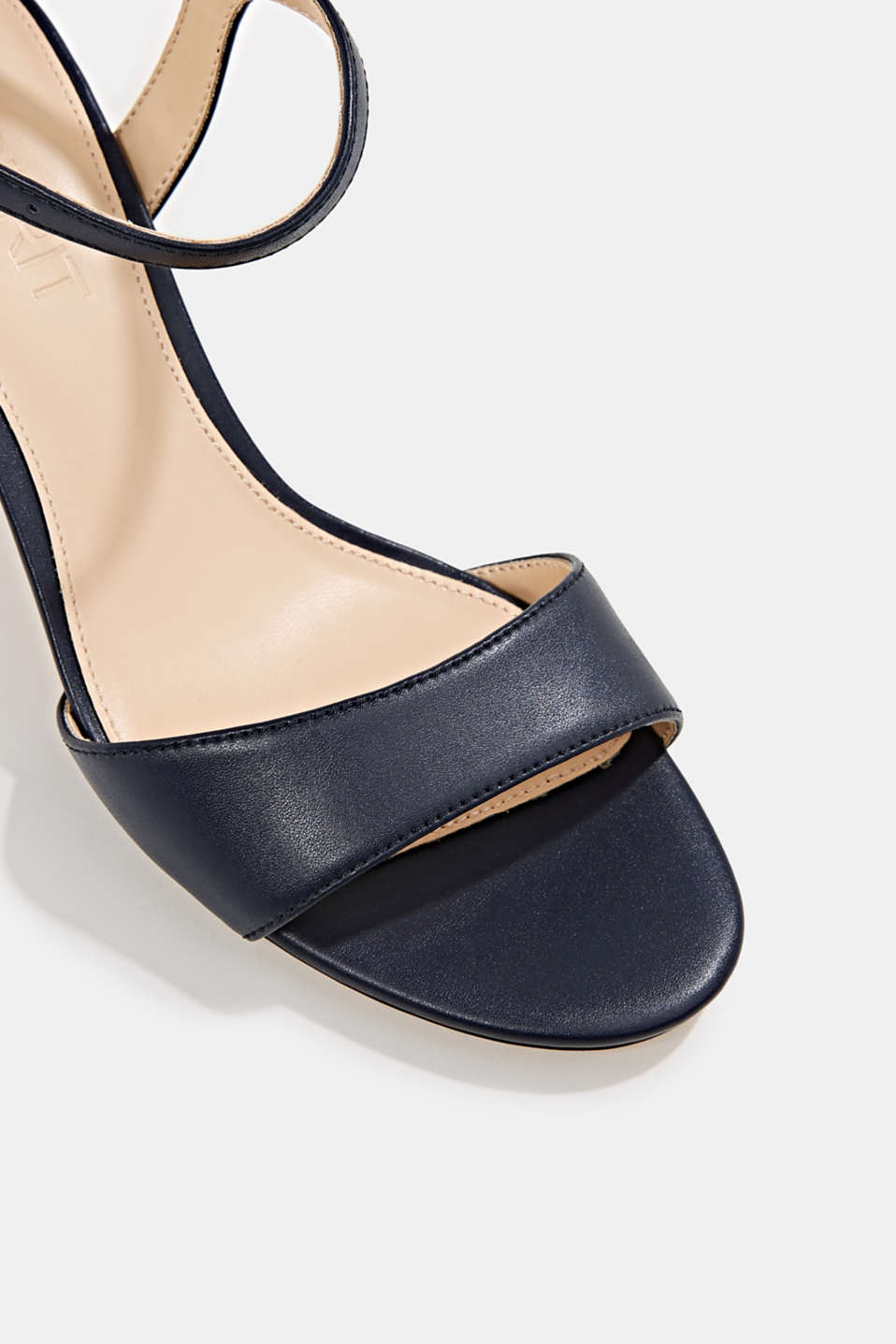 High-heeled strap sandals, NAVY, detail image number 4