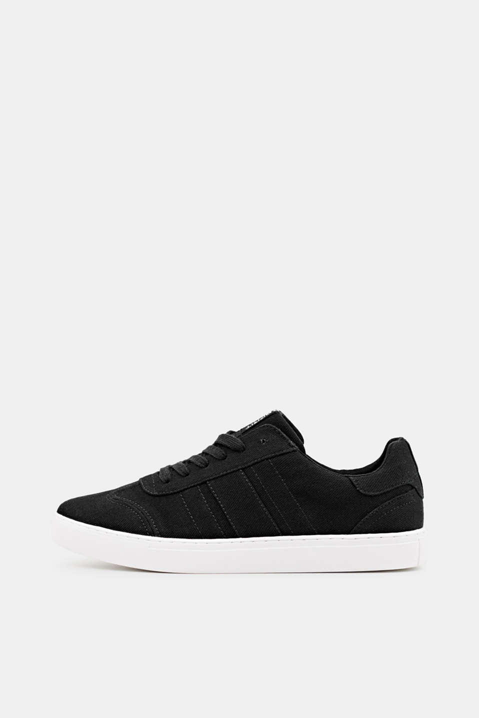 Cotton trainers, BLACK, detail image number 0