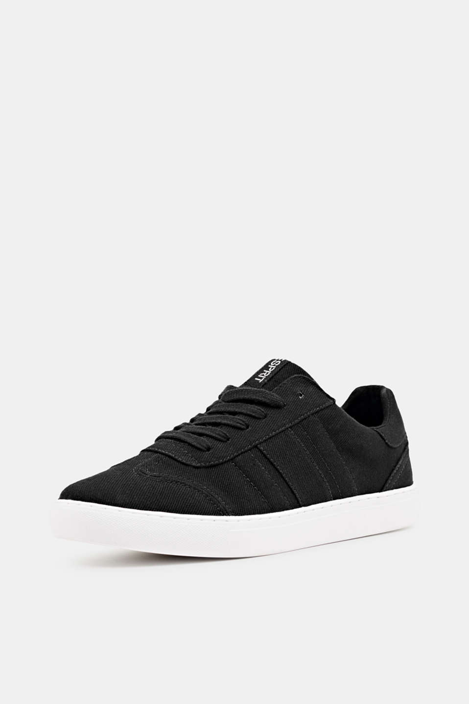 Cotton trainers, BLACK, detail image number 2