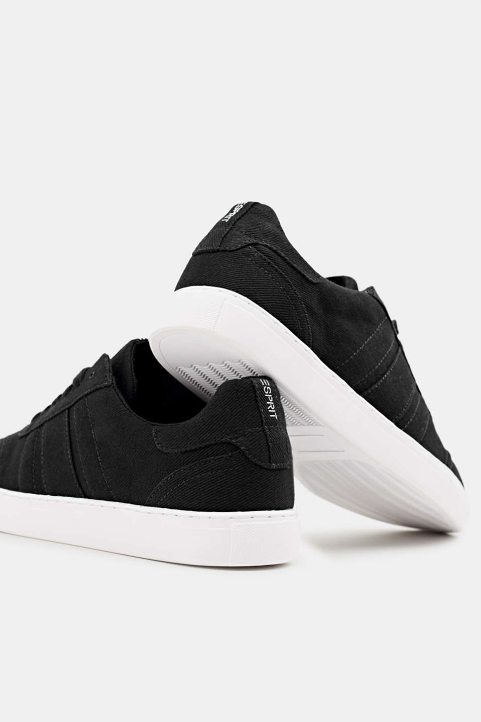 Cotton trainers, BLACK, detail image number 4