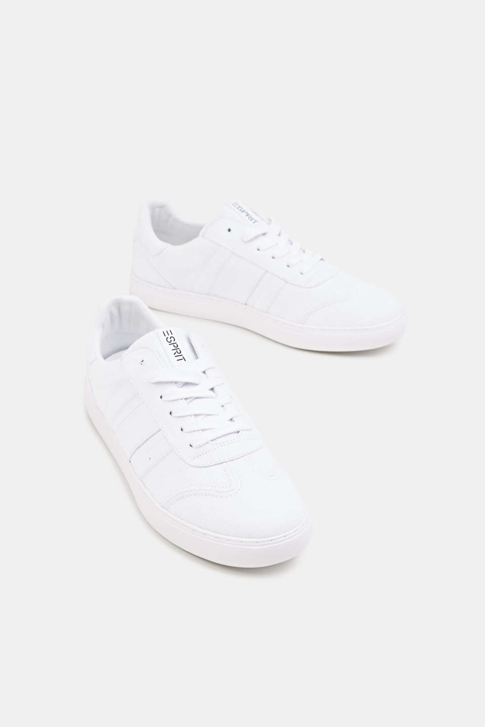 Cotton trainers, WHITE, detail image number 4