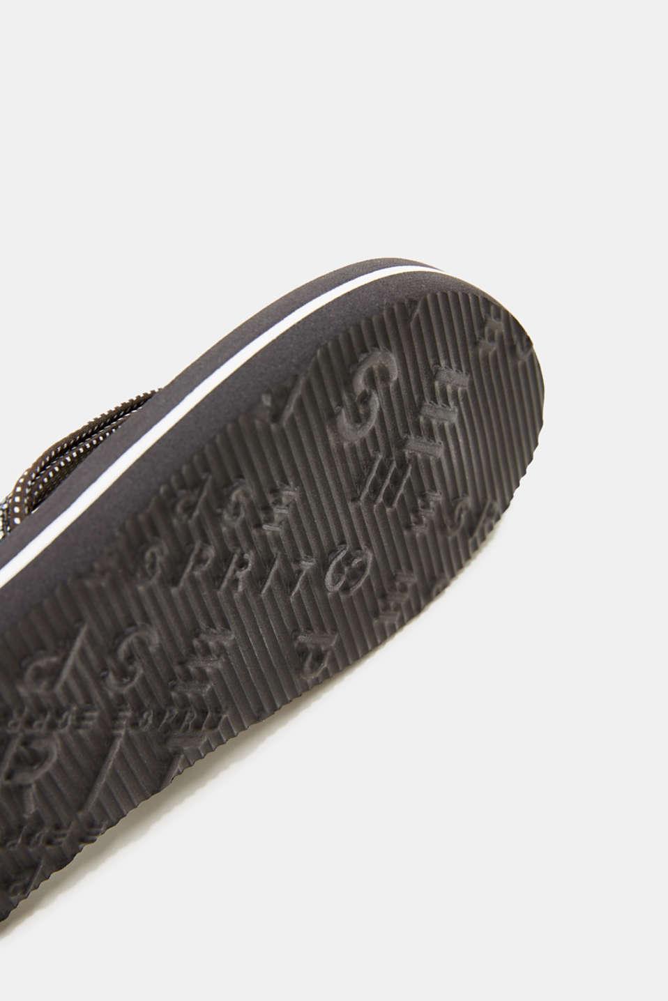 Slip slops with glittery straps, GUNMETAL, detail image number 3
