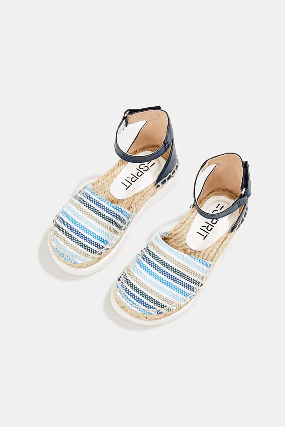 Espadrilles with woven textile, BLUE, detail image number 1