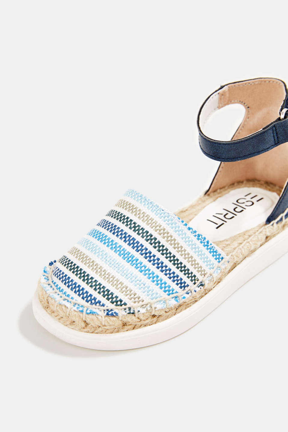 Espadrilles with woven textile, BLUE, detail image number 4