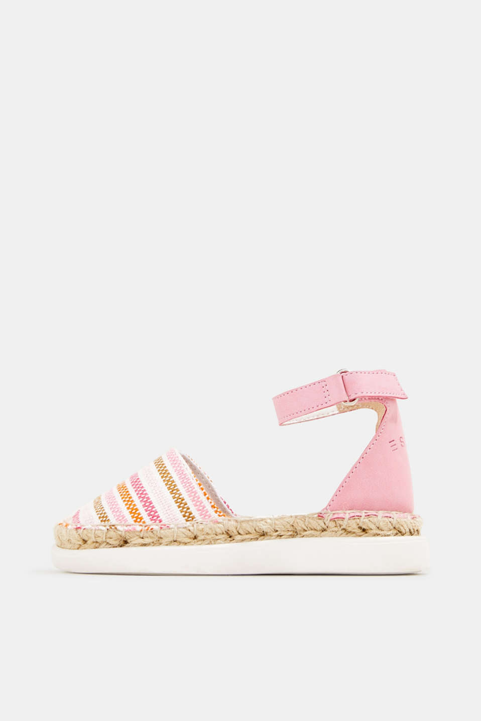 Espadrilles with woven textile, PINK, detail image number 0