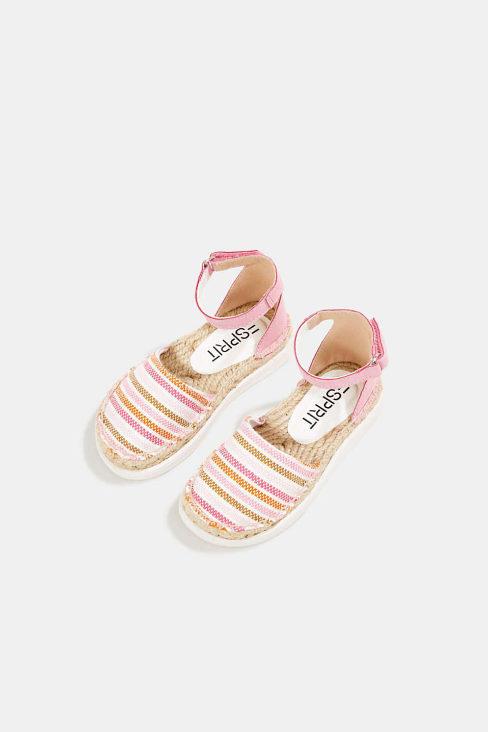 Espadrilles with woven textile, PINK, detail image number 1
