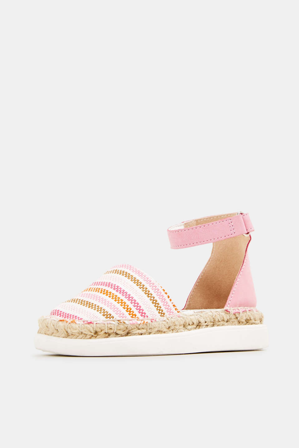 Espadrilles with woven textile, PINK, detail image number 2