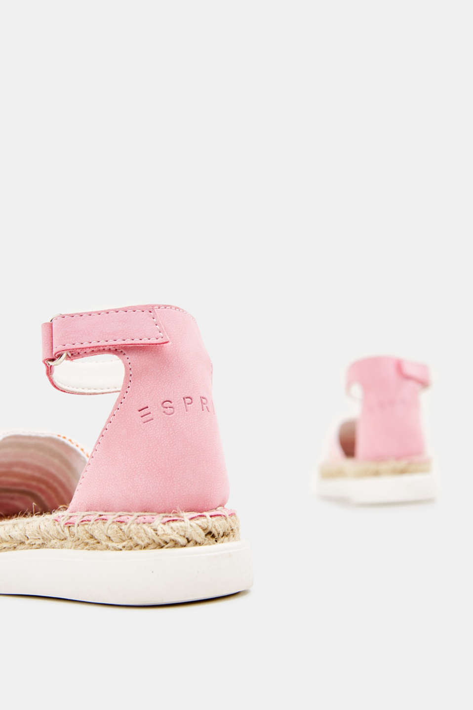 Espadrilles with woven textile, PINK, detail image number 3