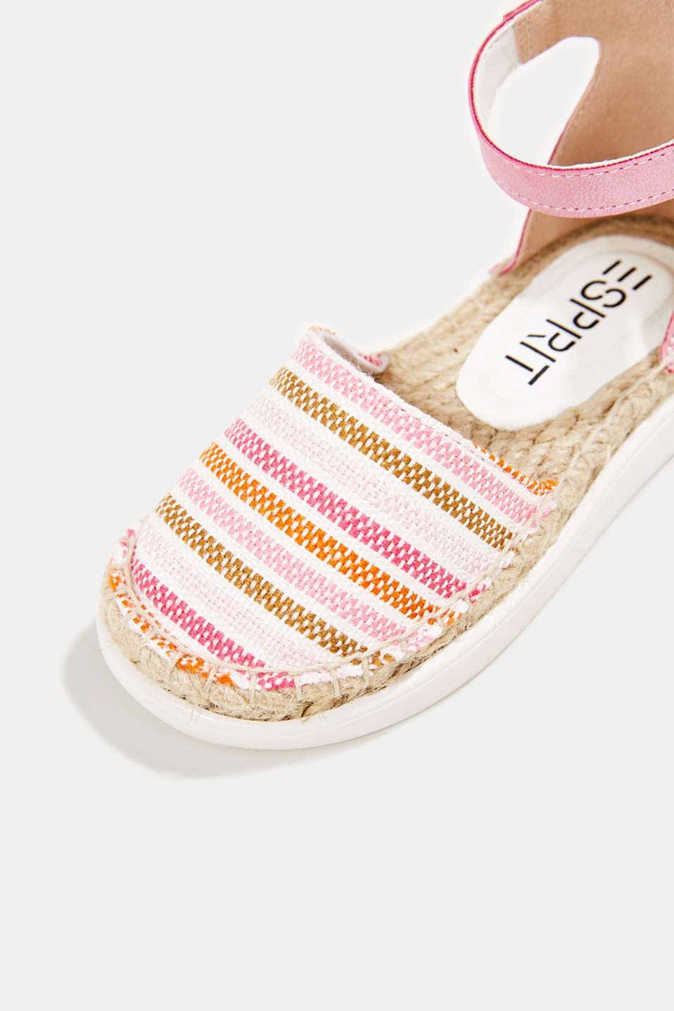 Espadrilles with woven textile, PINK, detail image number 4