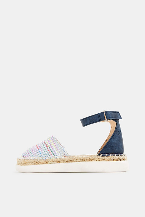 Espadrilles with woven textile