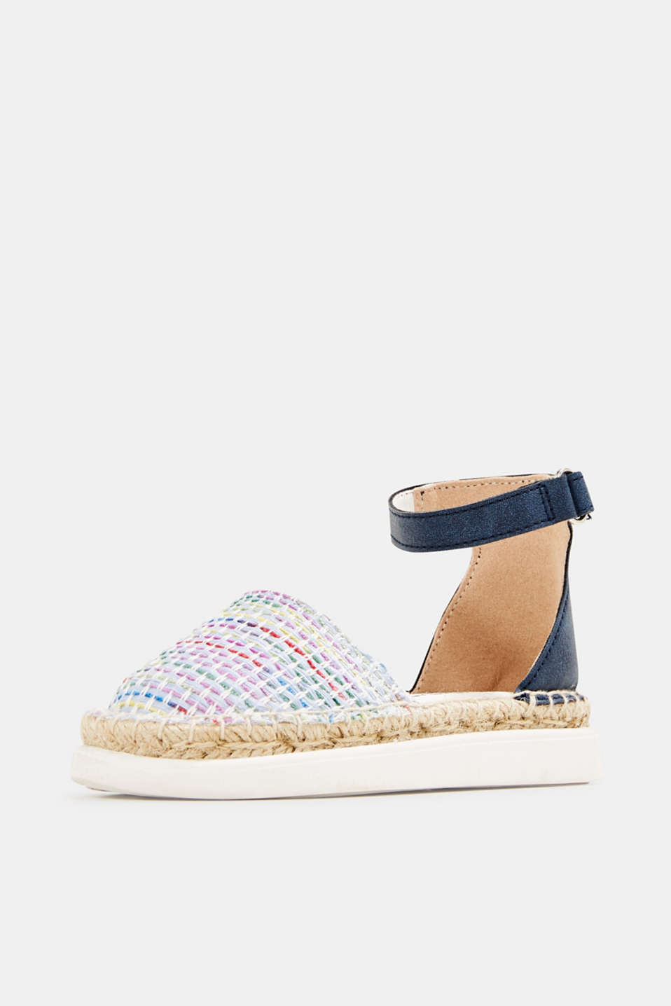 Espadrilles with woven textile, BLUE, detail image number 2