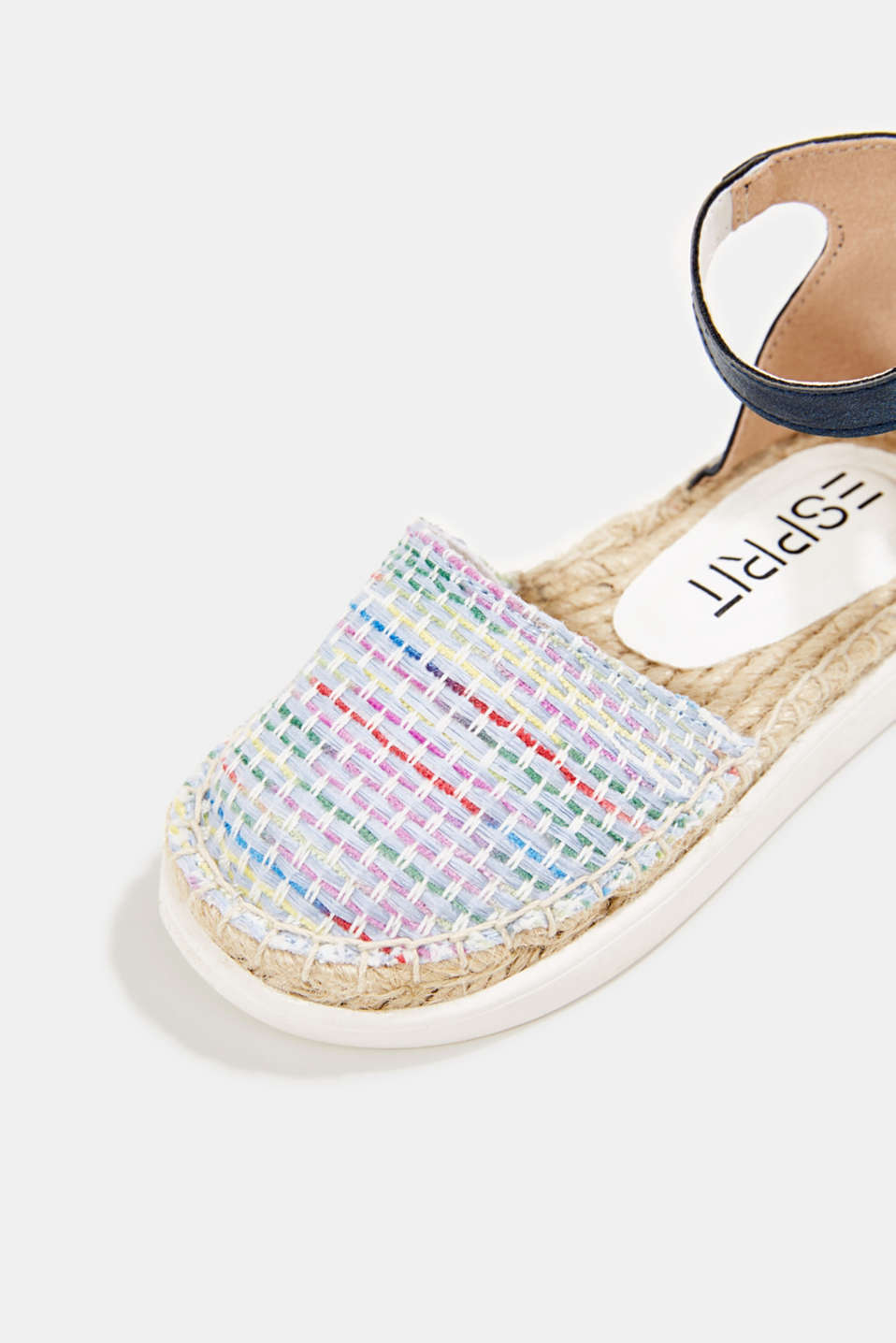 Espadrilles with woven textile, BLUE, detail image number 3