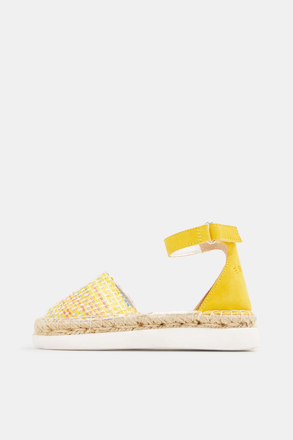 Espadrilles with woven textile, YELLOW, detail image number 0
