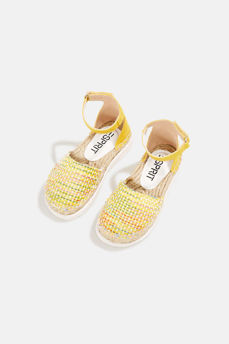 Espadrilles with woven textile, YELLOW, detail image number 1