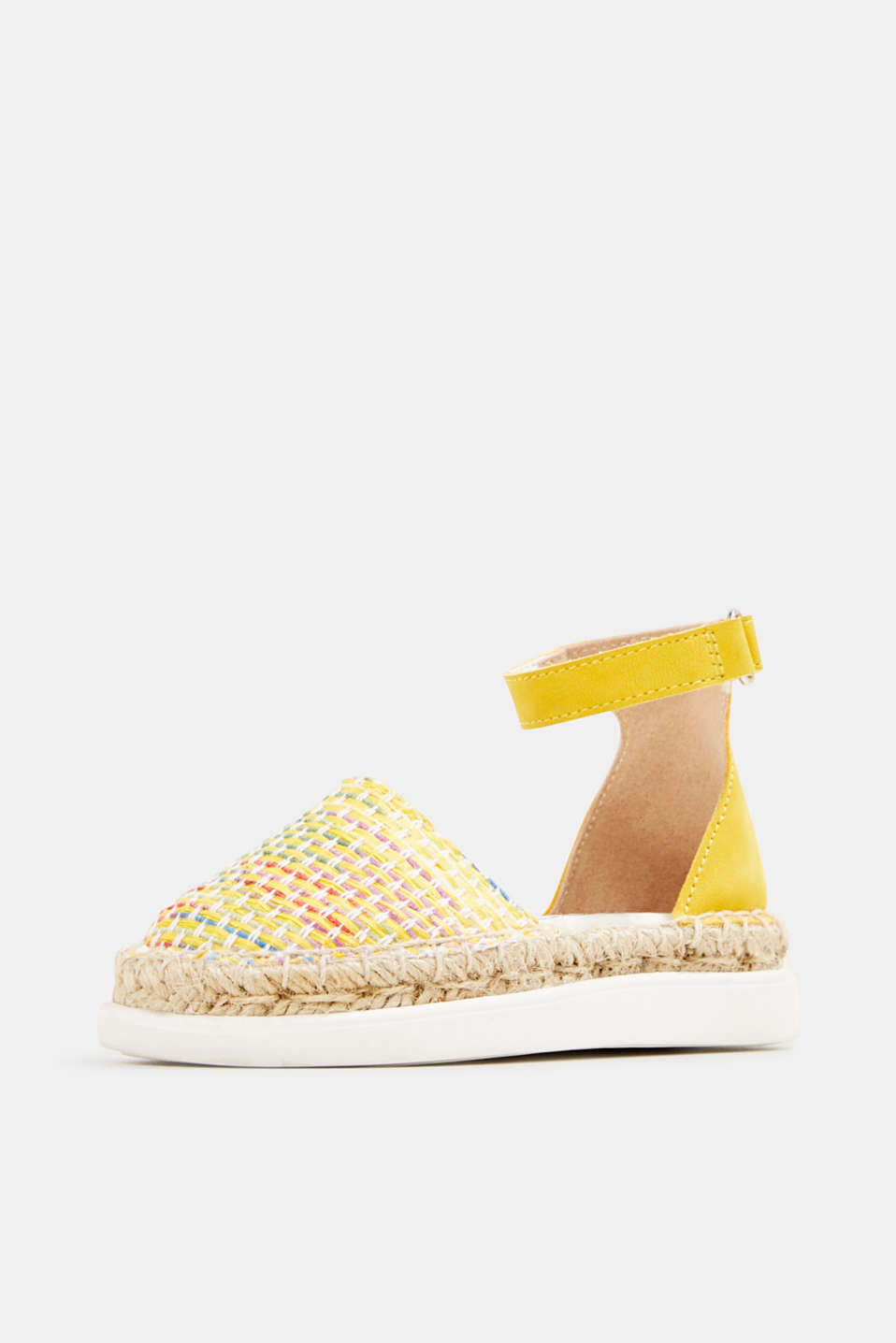 Espadrilles with woven textile, YELLOW, detail image number 2