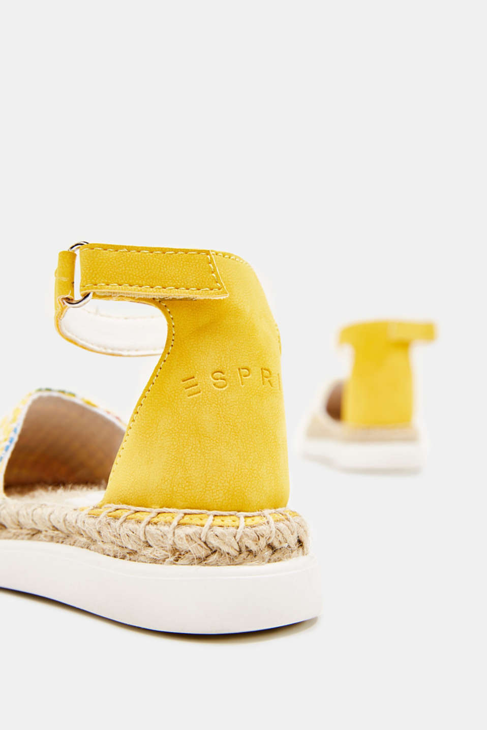 Espadrilles with woven textile, YELLOW, detail image number 3