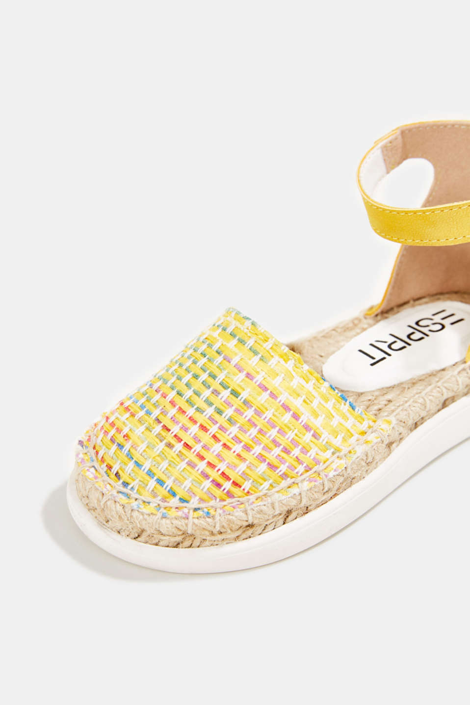 Espadrilles with woven textile, YELLOW, detail image number 4