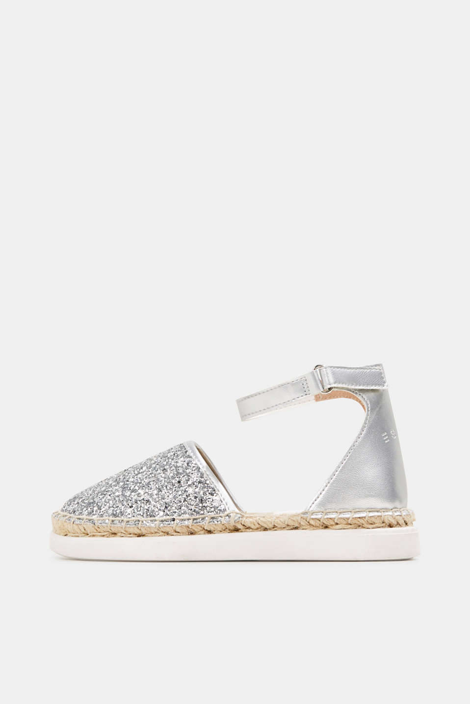 Espadrilles with glitter, SILVER, detail image number 0