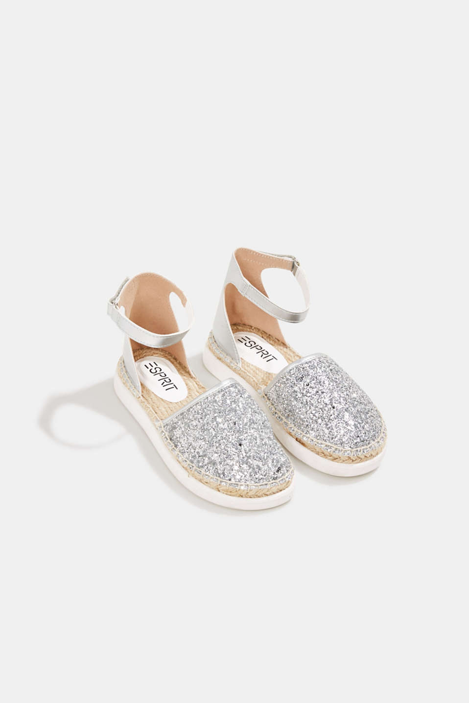 Espadrilles with glitter, SILVER, detail image number 1