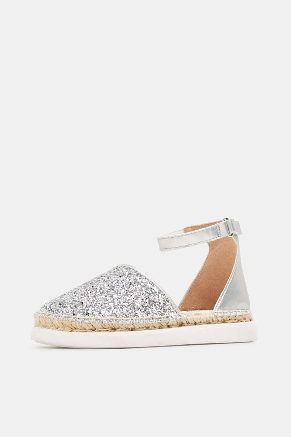 Espadrilles with glitter, SILVER, detail image number 2