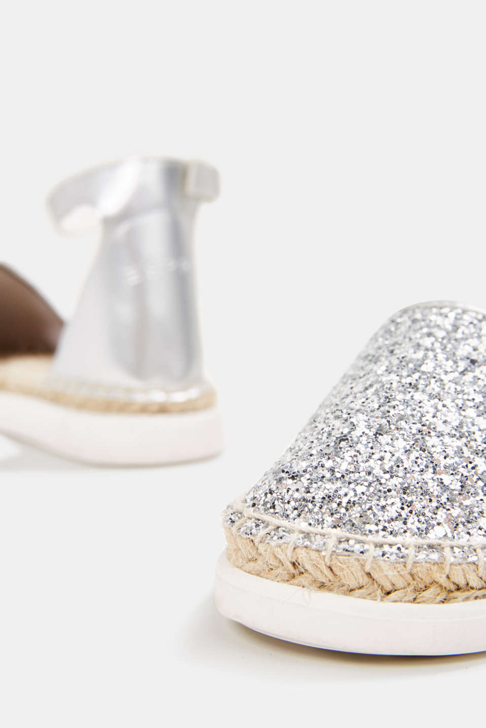 Espadrilles with glitter, SILVER, detail image number 4