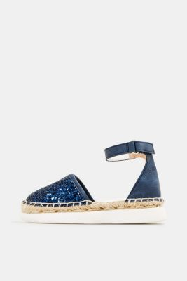 Espadrilles with glitter, NAVY, detail