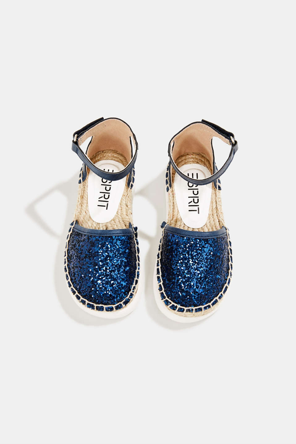 Espadrilles with glitter, NAVY, detail image number 1