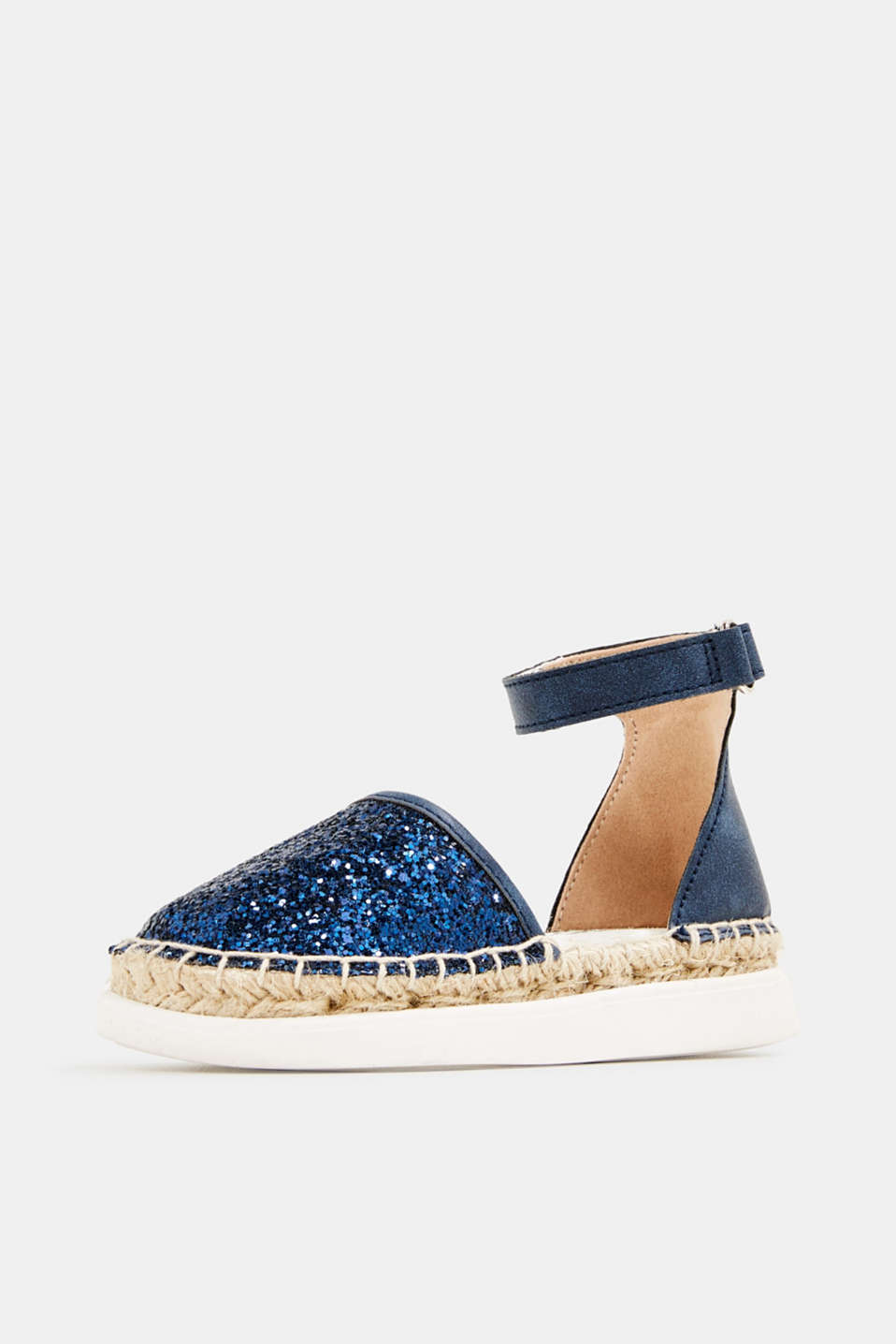 Espadrilles with glitter, NAVY, detail image number 2