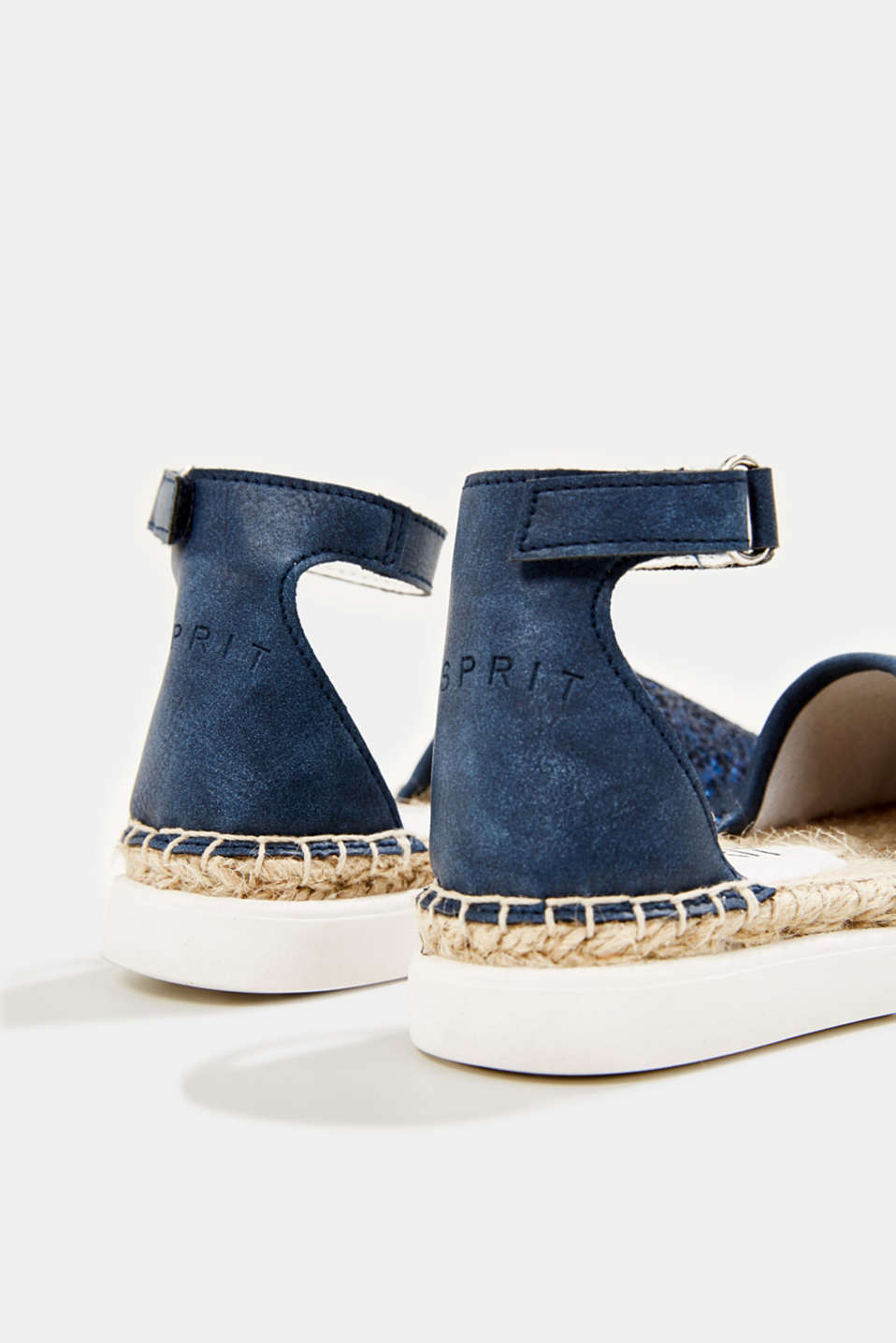 Espadrilles with glitter, NAVY, detail image number 4