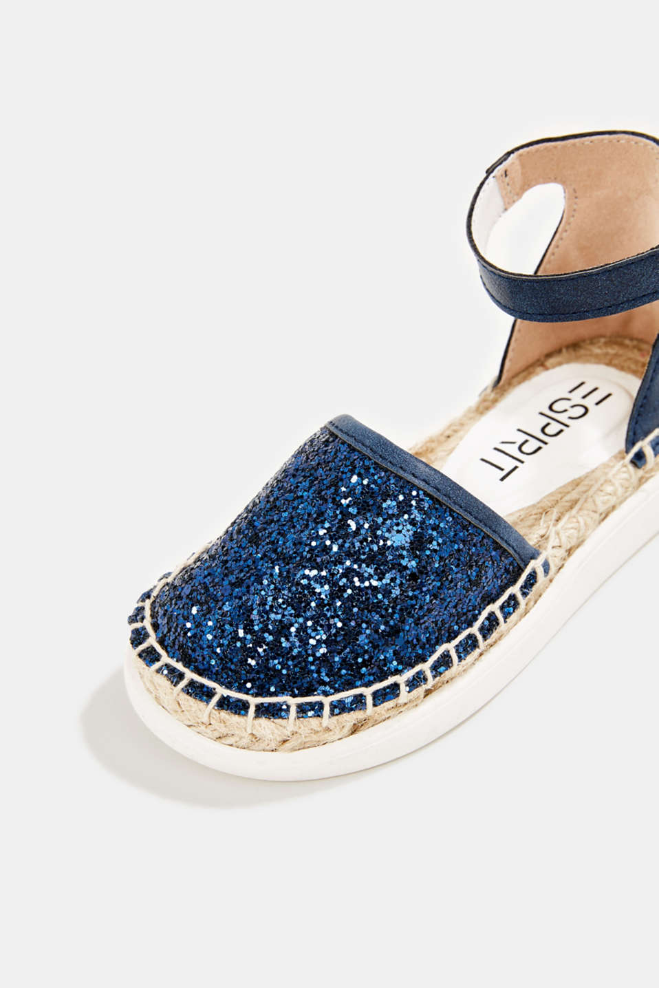 Espadrilles with glitter, NAVY, detail image number 3