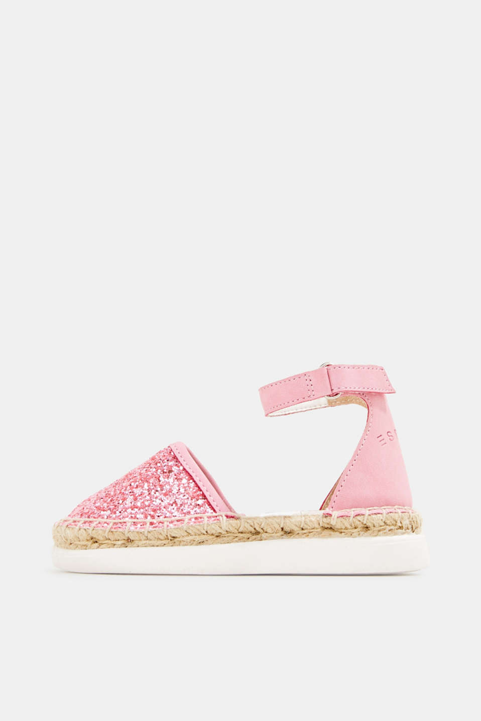 Espadrilles with glitter, PINK, detail image number 0