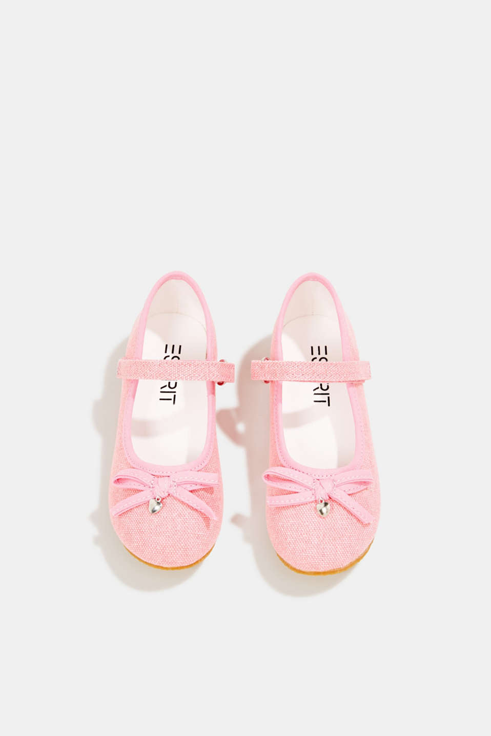 Ballerina with Velcro strap, 100% cotton, PINK, detail image number 1