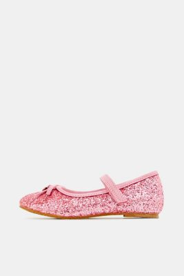Ballerina with Velcro strap, PINK, detail