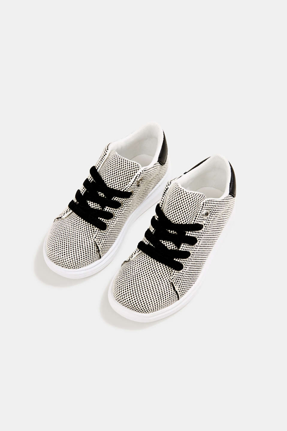 Trainers with a checkerboard pattern, BLACK, detail image number 1
