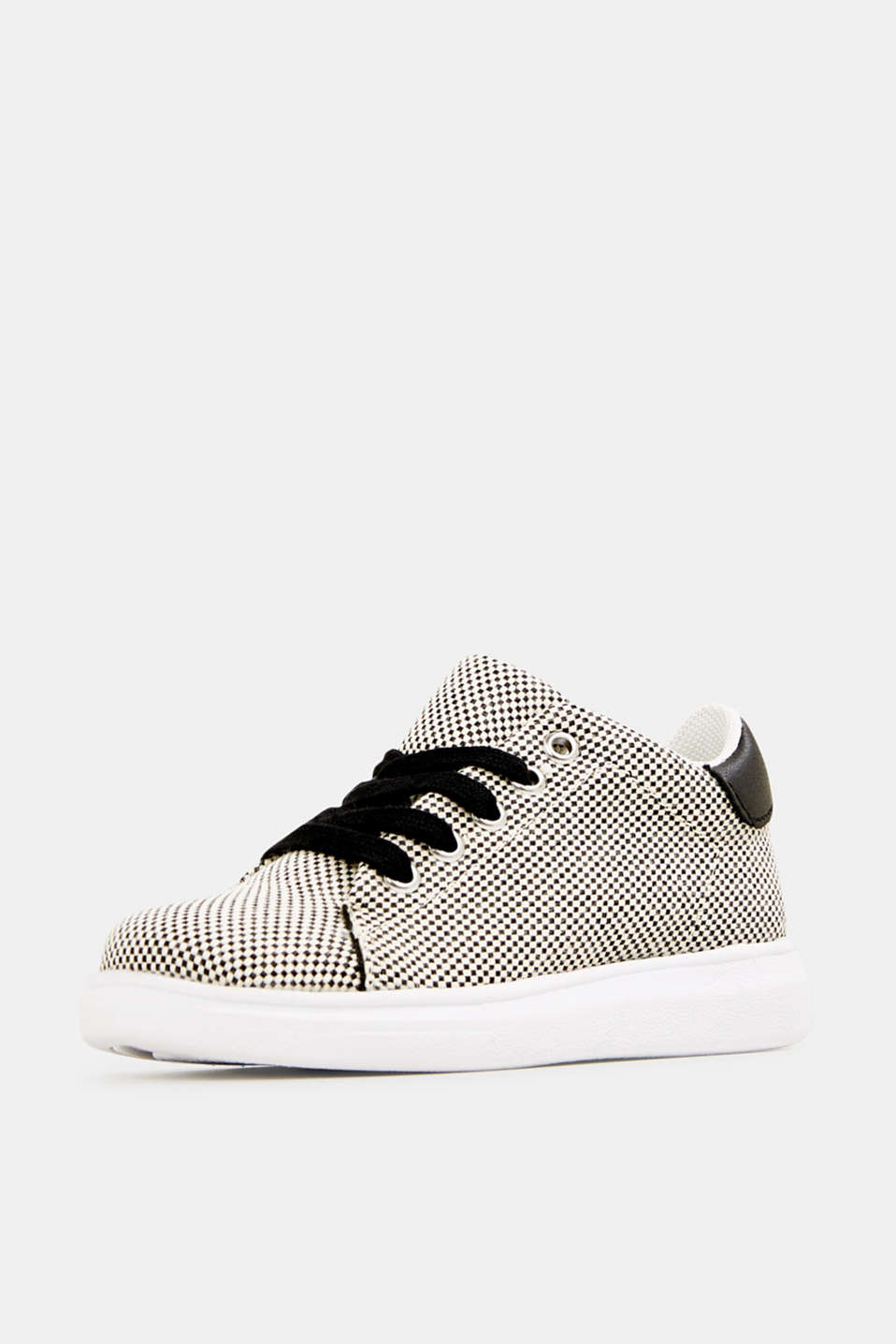 Trainers with a checkerboard pattern, BLACK, detail image number 2