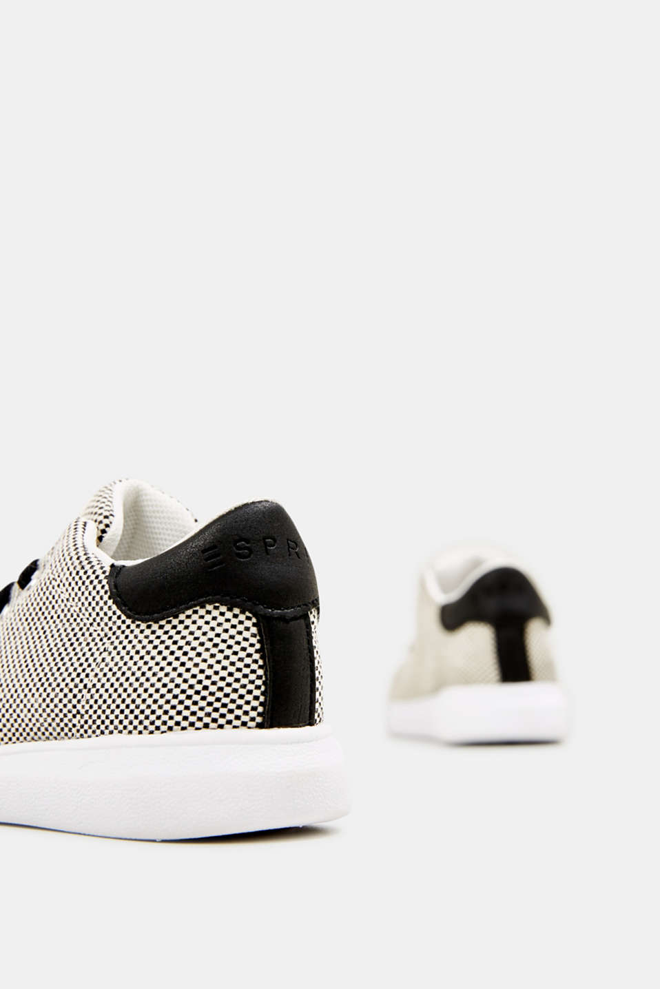 Trainers with a checkerboard pattern, BLACK, detail image number 4