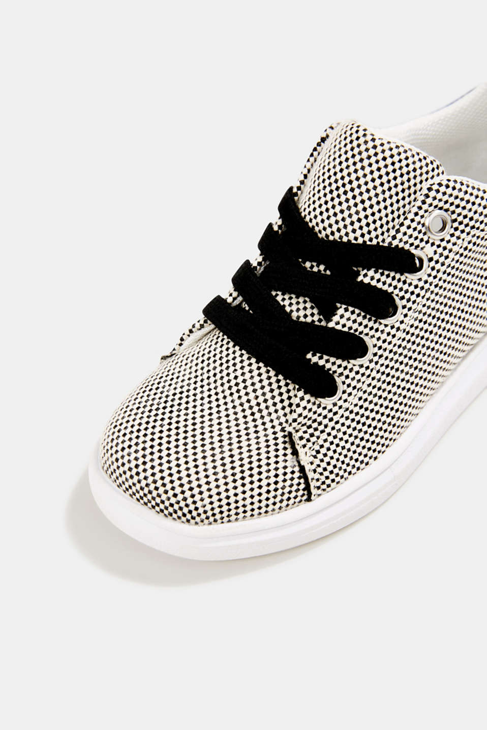 Trainers with a checkerboard pattern, BLACK, detail image number 3