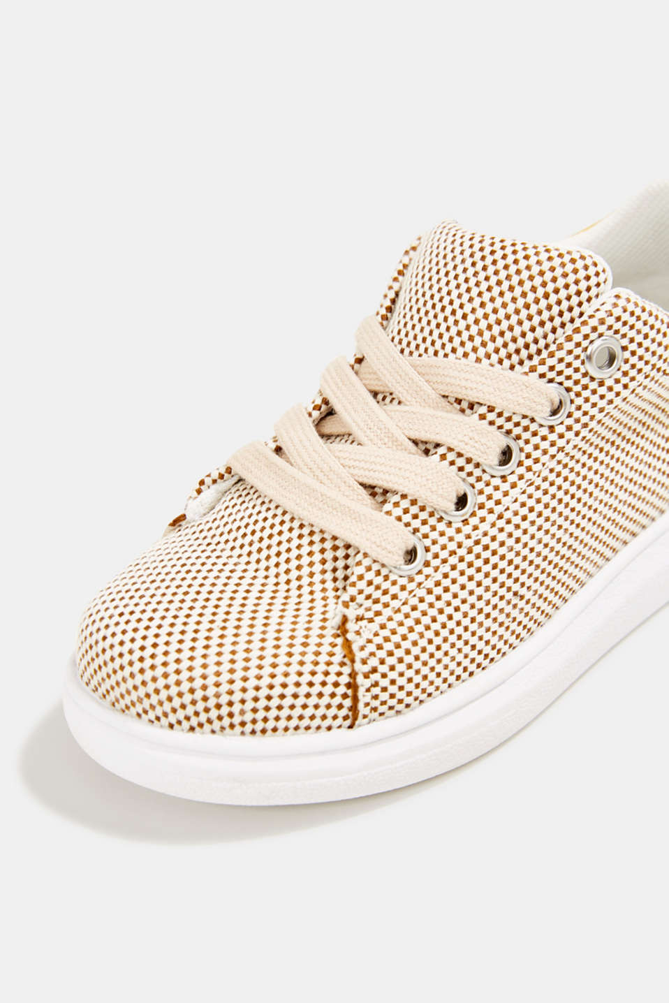 Trainers with a checkerboard pattern, BROWN, detail image number 3
