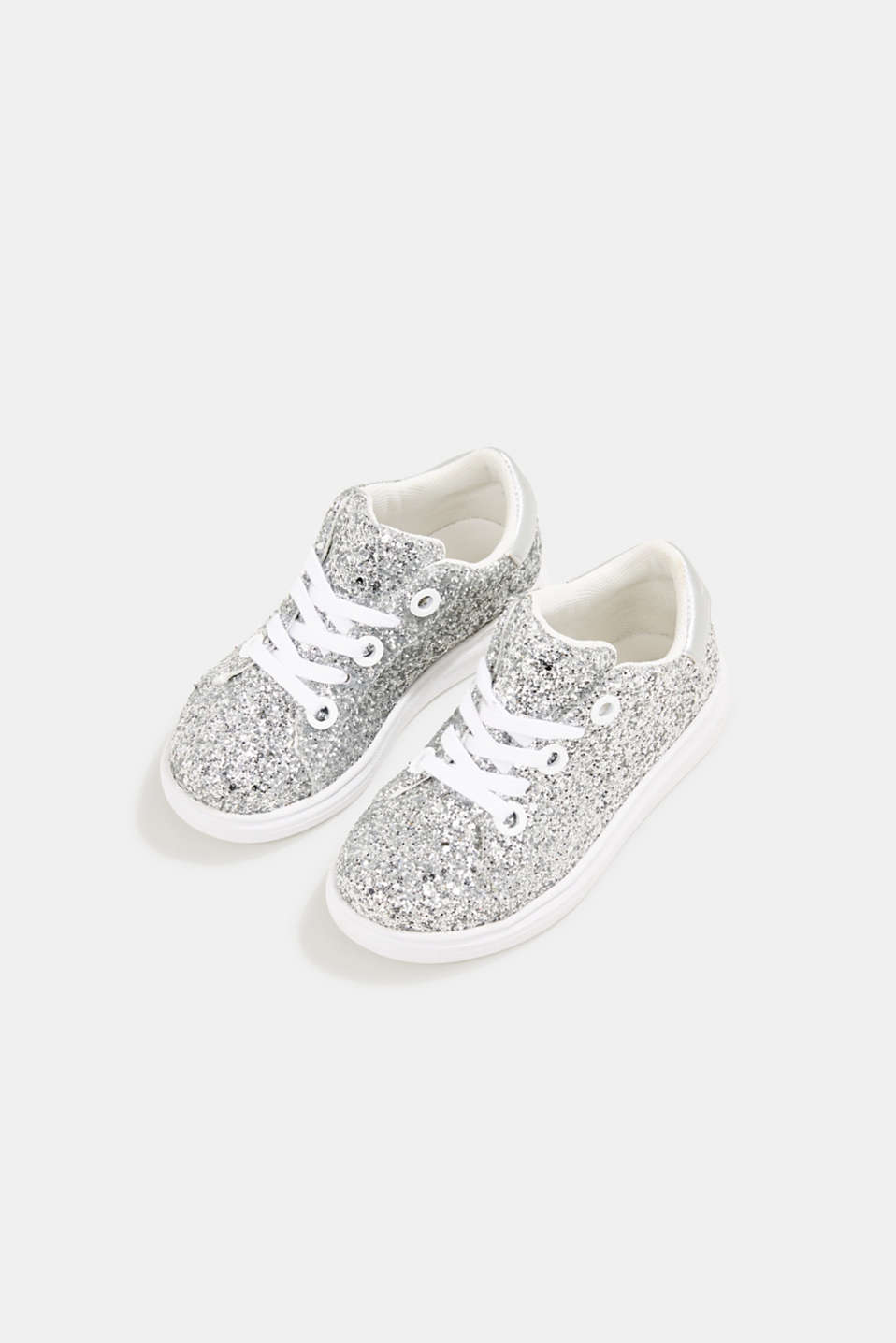 Glitter trainers, SILVER, detail image number 1