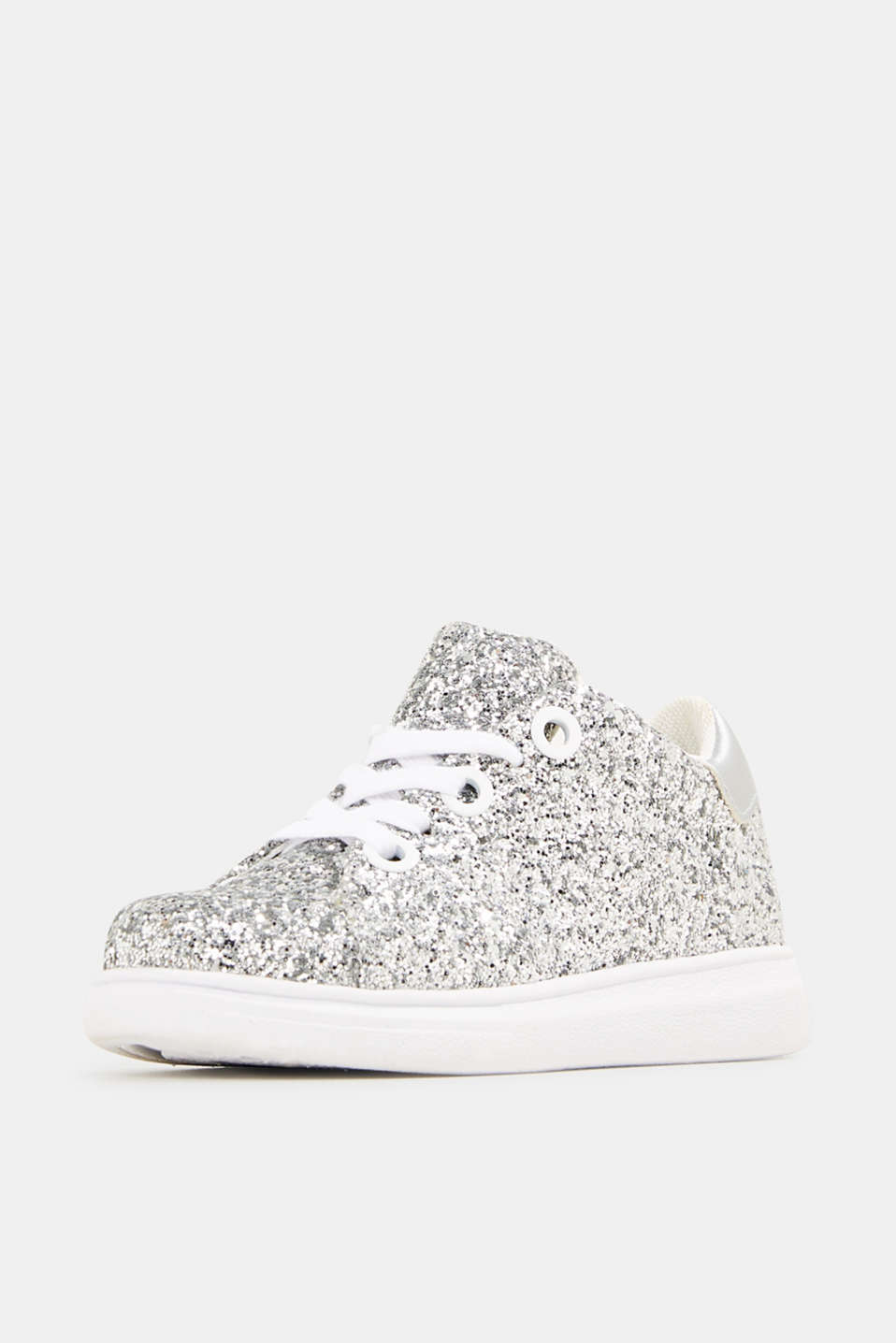 Glitter trainers, SILVER, detail image number 2